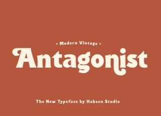 Antagonist Bold Serif Font