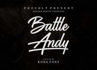 Battle Andy Script Font