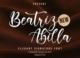 Beatriz Abilla Script Font