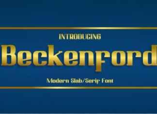 Beckenford Slab Serif Font