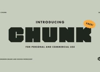 Chunk Display Font