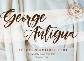George Antigua Script Font