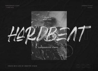 Hardbeat Brush Font