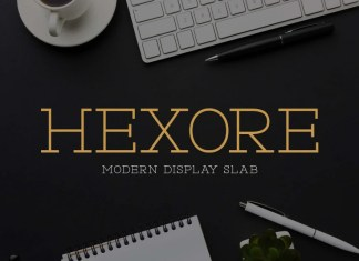 Hexore Slab Serif Font