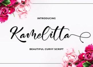 Kamelitta Calligraphy Font