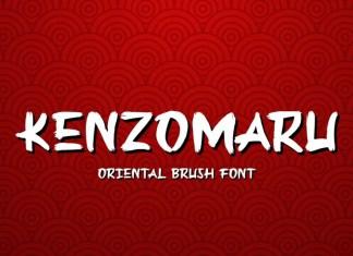 Kenzomaru Brush Font