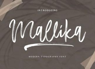 Mallika Brush Font