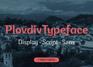 Plovdiv Sans Serif Font