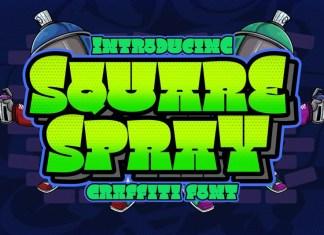 Square Spray Display Font