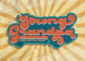Strong Grandpa Bold Script Font