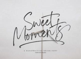 Sweet Moments Brush Font