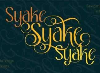 Syake Elegant Sans Serif Font