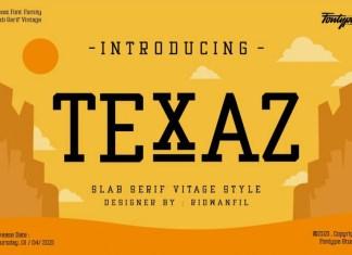 Texaz Slab Serif Font