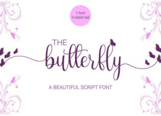 The Butterfly Calligraphy Font