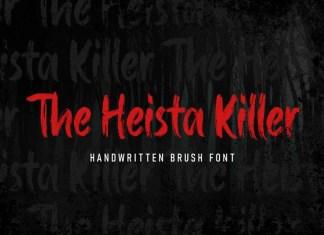 The Heista Killer Brush Font