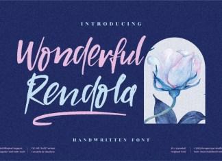 Wonderful Rendola Script Font