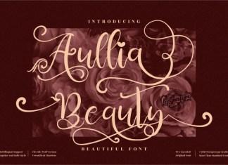 Aullia Beauty Calligraphy Font
