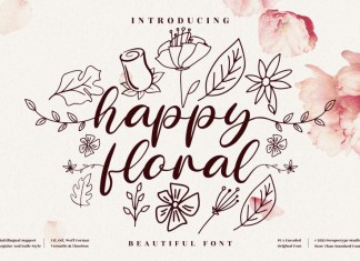 Happy Floral Calligraphy Font