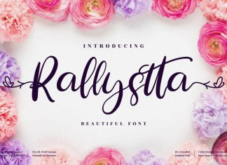 Rallystta Calligraphy Font