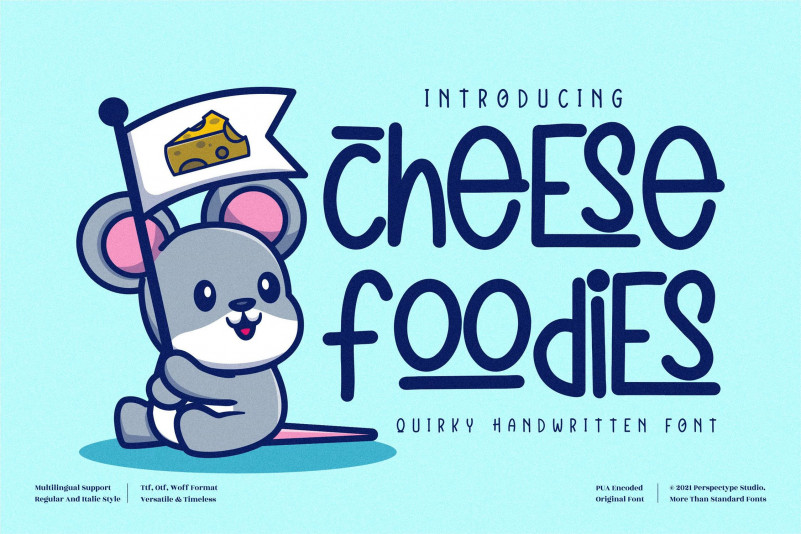 Cheese Foodies Display Font