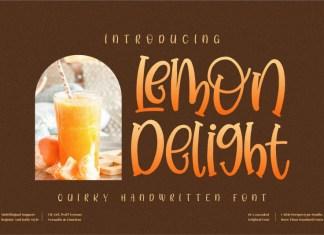 Lemon Delight Display Font