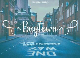 Baytown Calligraphy Font