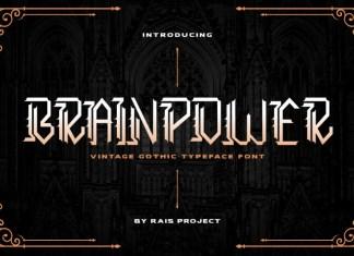 Brainpower Display Font