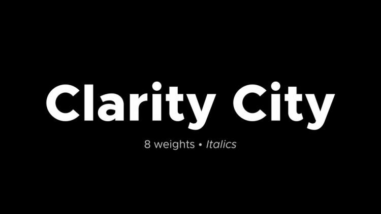Clarity City Sans Serif Font