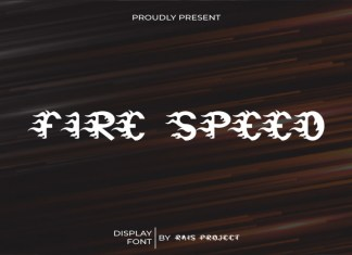Fire Speed Display Font
