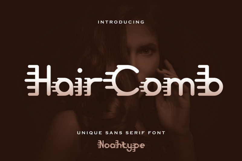 Hair Comb Display Font
