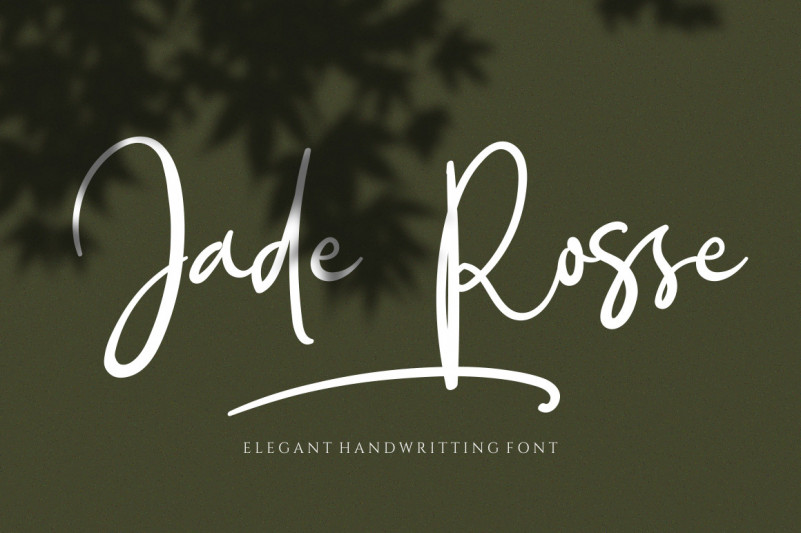Jade Rosse Handwritten Font