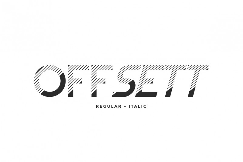 Offsett Sans Serif Font
