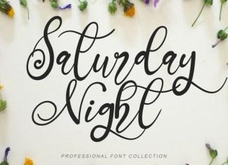 Saturday Night Calligraphy Font