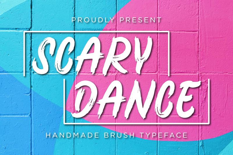 Scary Dance Brush Font