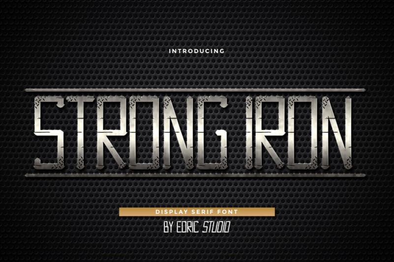 Strong Iron Display Font