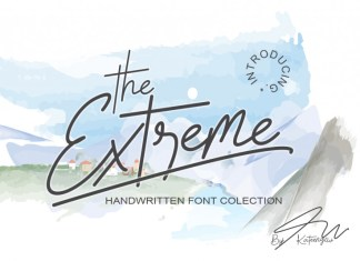 The Extreme Handwritten Font