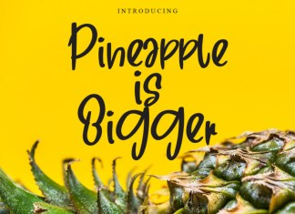 Pineapple in Bigger Script Font