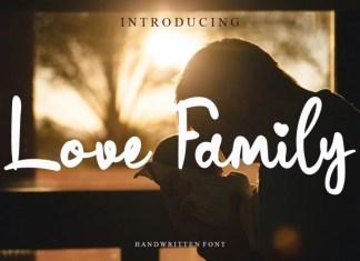 Love Family Script Font