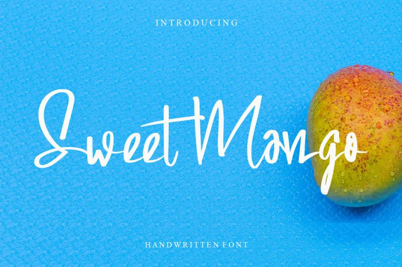 Sweet Mango Handwritten Font