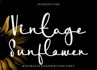 Vintage Sunflower Script Font