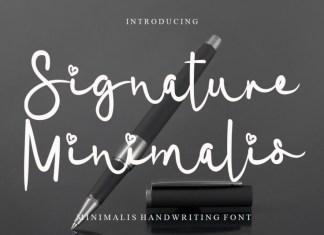 Signature Minimalis Script Font
