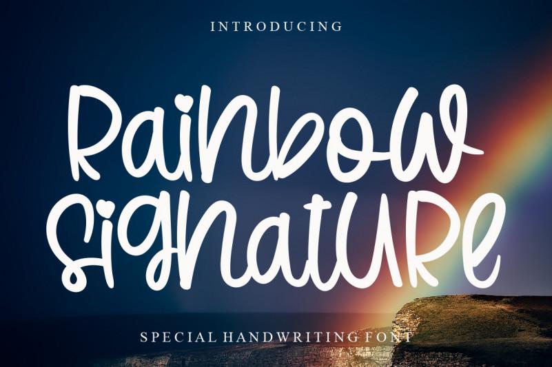 Rainbow Signature Script Font