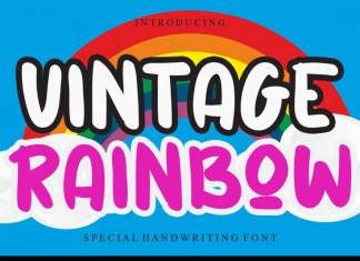 Vintage Rainbow Display Font