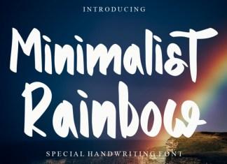Minimalist Rainbow Display Font