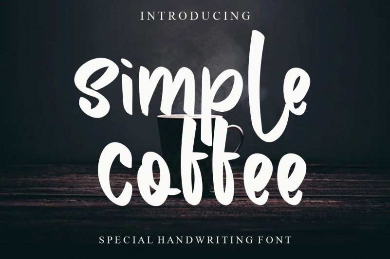 Simple Coffee Display Font