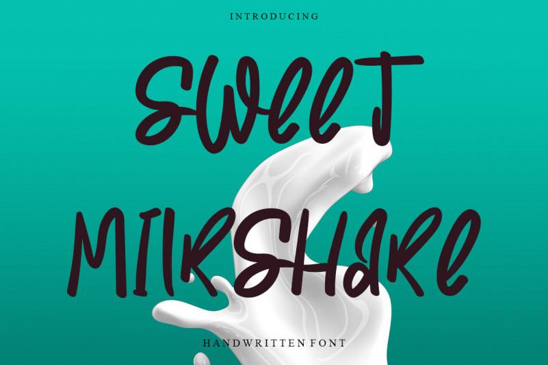 Sweet Milkshake Font