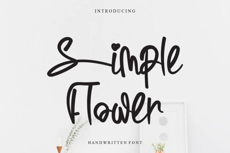 Simple Flower Font