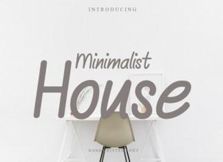 Minimalist House Display Font
