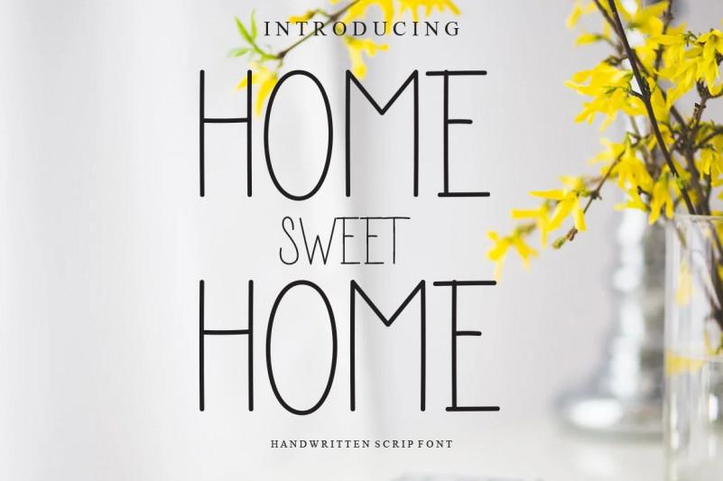 Home Sweet Home Display Font