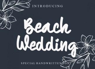 Beach Wedding Font